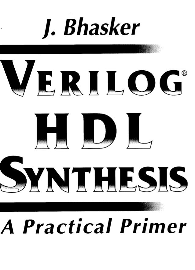 A VERILOG HDL PRIMER BY J.BHASKER EBOOK