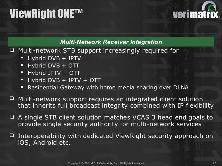 ViewRight ONE™               Multi-Network Receiver Integration               Multi-Network Receiver Integration Multi-ne...