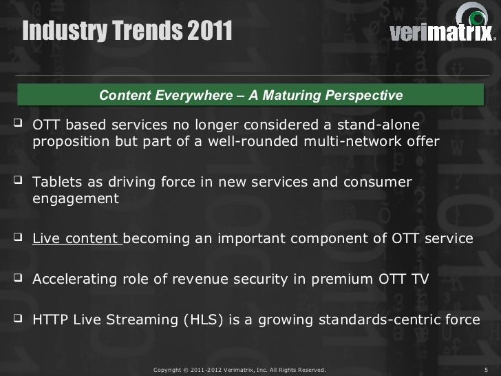 Industry Trends 2011             Content Everywhere – A Maturing Perspective             Content Everywhere – A Maturing P...