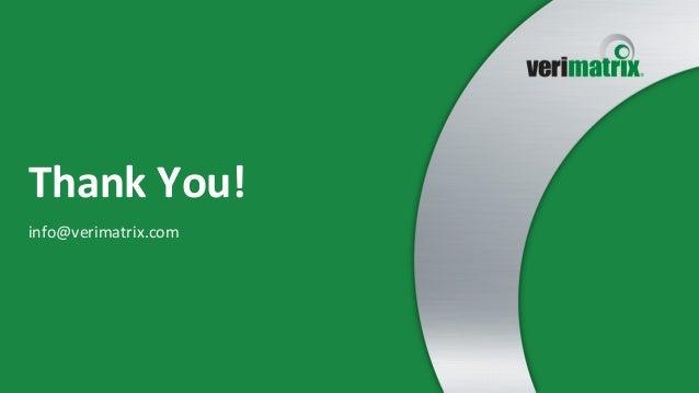 Thank  You!   info@verimatrix.com