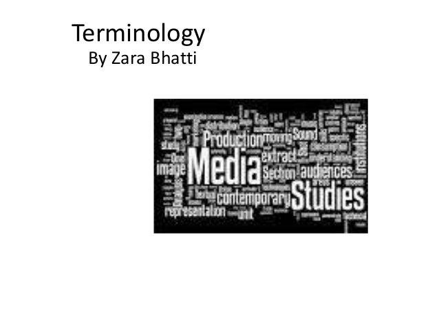 Terminology By Zara Bhatti