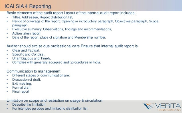 Audit report writing training