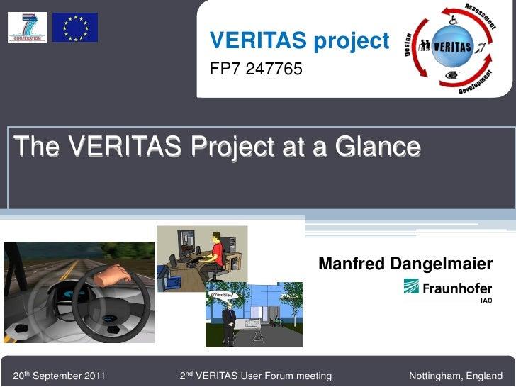 VERITAS project                          VERITAS project                          FP7 247765                          FP7 ...