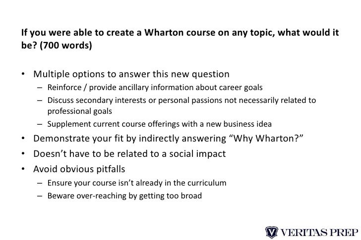 breakdown of wharton mba admissions essays