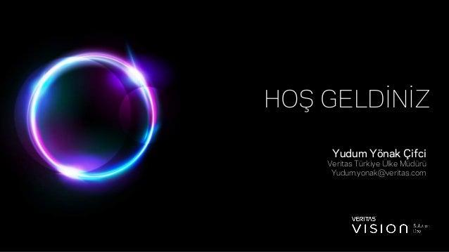 HOŞ GELDİNİZ Yudum Yönak Çifci Veritas Türkiye Ülke Müdürü Yudum.yonak@veritas.com