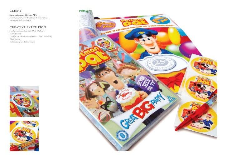 Client entertainment rights PlC Postman Pat 25yr Birthday Celebration - Promotional Material  C r e at i v e e x e C u t i...