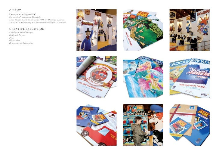 Client entertainment rights PlC Corporate Promotional Material - Sales Sheets, Exhibition Stands, POS for Hamleys (London ...