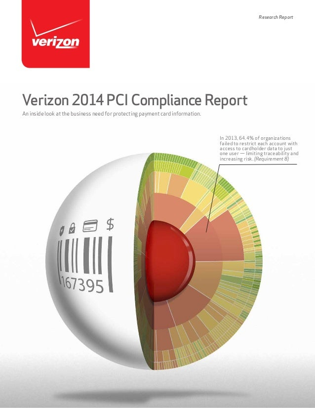 Research Report  Verizon 2014 PCI Compliance Report An inside look at the business need for protecting payment card inform...
