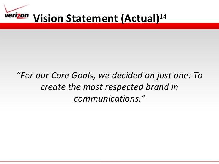 Verizon Strategic Managment Presentation