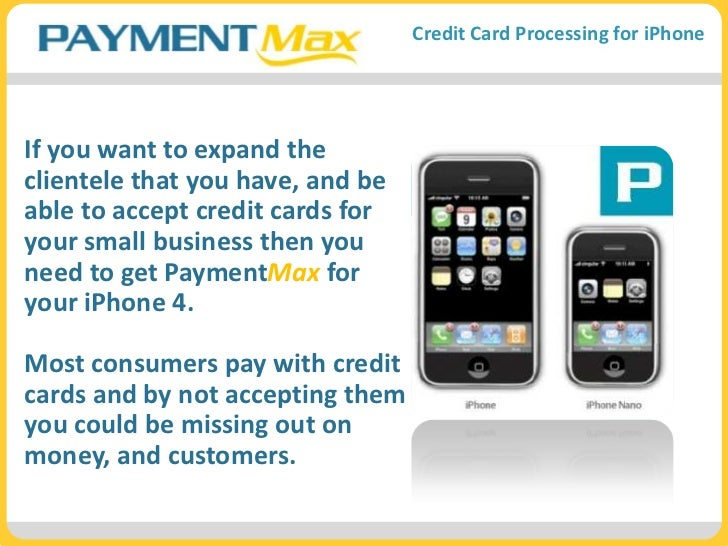 If you want to expand the clientele that you have, and be able to accept credit cards for your small business then you nee...