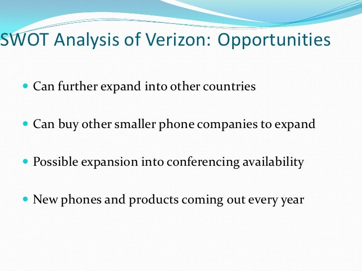 environmental analysis verizon wireless Wolpert- verizon wireless strategic analysis 1 strategic it is up to verizon to continue their legacy and truly evolve the wireless environment.
