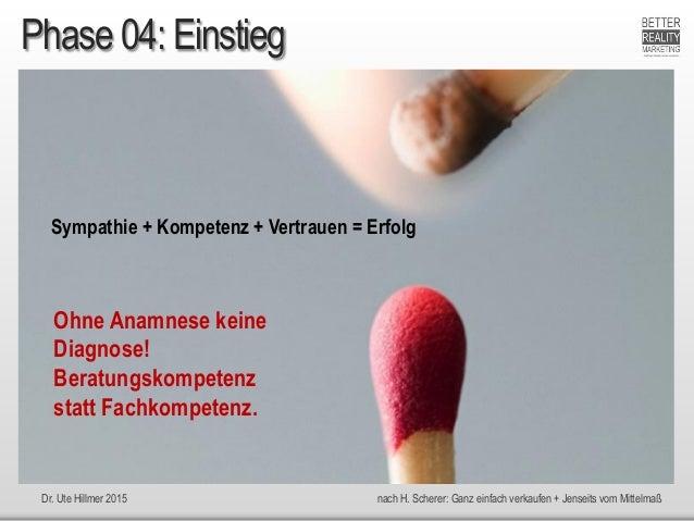 Dr. Ute Hillmer 2015 nach H. Scherer: Ganz einfach verkaufen + Jenseits vom Mittelmaß Phase 04: Einstieg Sympathie + Kompe...
