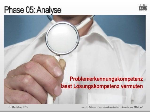 Dr. Ute Hillmer 2015 nach H. Scherer: Ganz einfach verkaufen + Jenseits vom Mittelmaß Problemerkennungskompetenz lässt Lös...