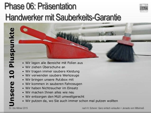 Dr. Ute Hillmer 2015 nach H. Scherer: Ganz einfach verkaufen + Jenseits vom Mittelmaß Handwerker mit Sauberkeits-Garantie ...