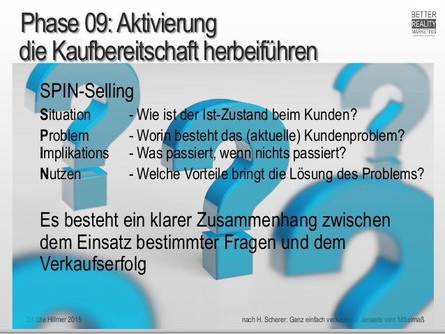 Dr. Ute Hillmer 2015 nach H. Scherer: Ganz einfach verkaufen + Jenseits vom Mittelmaß die Kaufbereitschaft herbeiführen SP...