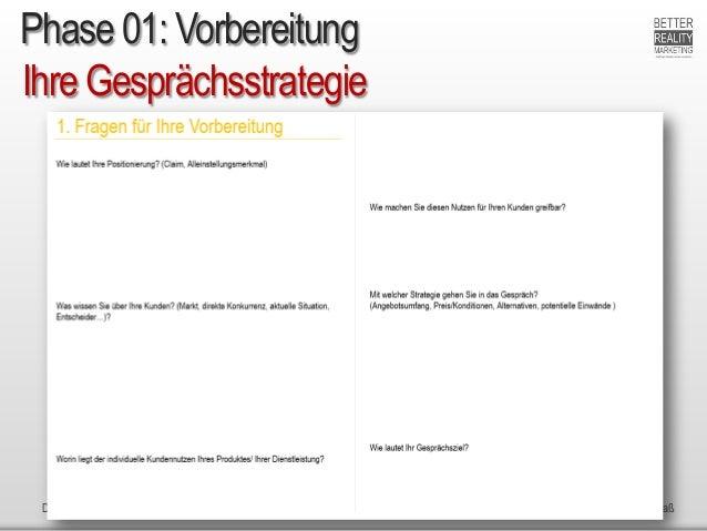 Dr. Ute Hillmer 2015 nach H. Scherer: Ganz einfach verkaufen + Jenseits vom Mittelmaß Ihre Gesprächsstrategie Phase 01: Vo...