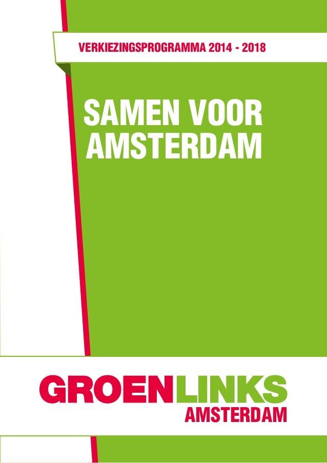verkiezingsprogramma 2014 - 2018  Samen Voor Amsterdam  amsterdam