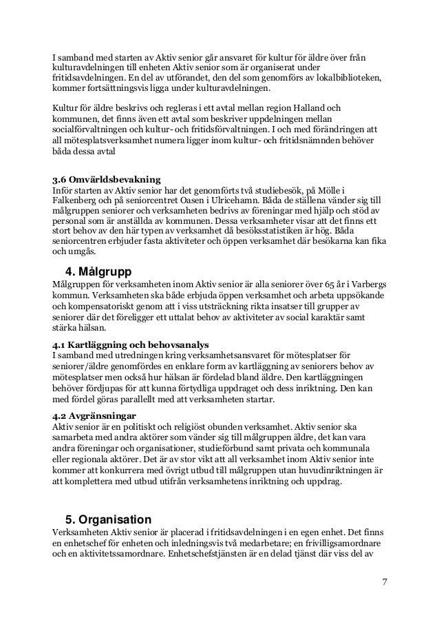 Aktiv seniors verksamhet pausas - Varbergs kommun