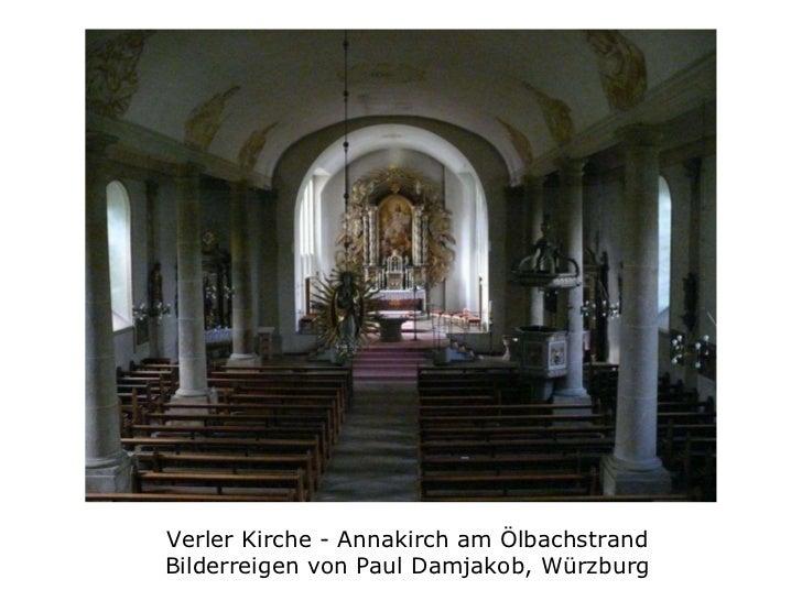 Verler Kirche - Annakirch am Ölbachstrand Bilderreigen von Paul Damjakob, Würzburg
