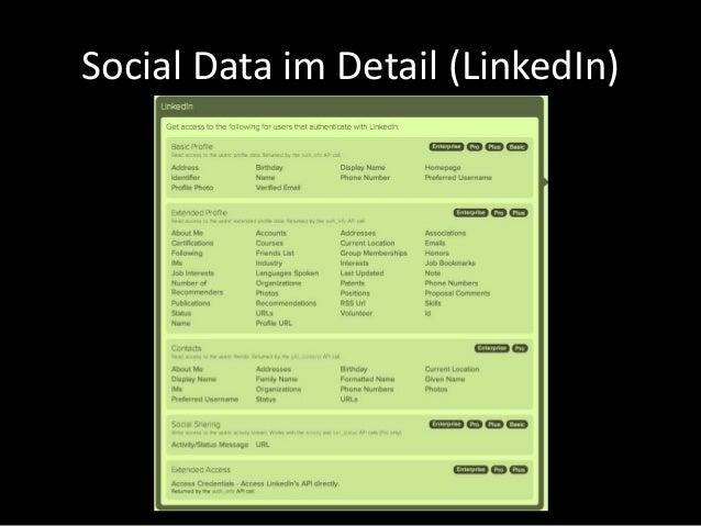 Social Data im Detail (LinkedIn)