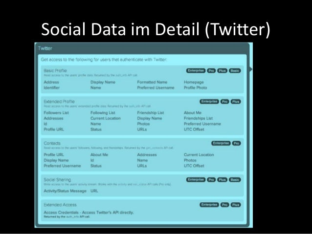 Social Data im Detail (Twitter)