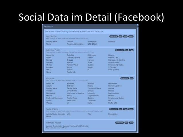 Social Data im Detail (Facebook)