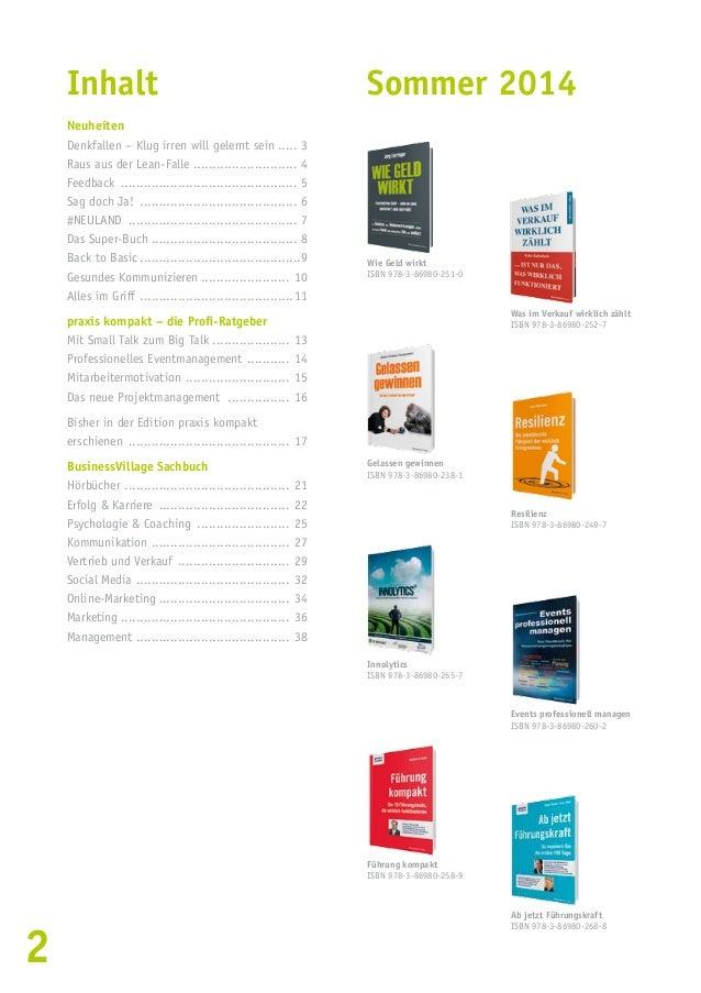 Verlagsprogramm Herbst/Winter 2014 Slide 2