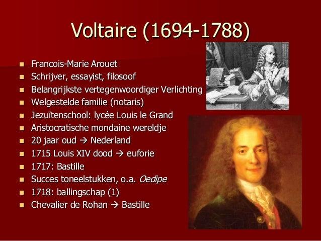 Verlichting Voltaire XVIIIe eeuw