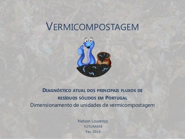 VERMICOMPOSTAGEM DIAGNÓSTICO ATUAL DOS PRINCIPAIS FLUXOS DE RESÍDUOS SÓLIDOS EM PORTUGAL Dimensionamento de unidades de ve...