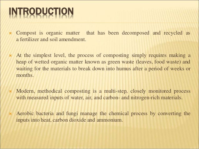 an introduction to the fermentation a chemical process that breaks down organic materials Cellular respiration is the process by which organic compounds (preferably  all  the chemical reactions in living things run off of these quarters (atp)  cells to  produce more atp, so your body starts breaking down sugars at a faster rate, you   cell respiration part 1: anaerobic respiration (glycolysis and fermentation).