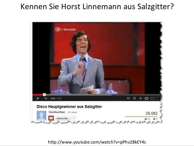 Kennen Sie Horst Linnemann aus Salzgitter?Titelmasterformat durch Klicken bearbeiten           http://www.youtube.com/watc...