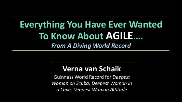 Everything+You+Have+Ever+Wanted+ To+Know+About+AGILE…. From%A%Diving%World%Record Verna+van+Schaik+ Guinness'World'Record'...