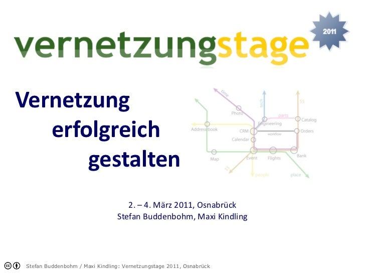 Vernetzung erfolgreich gestalten 2. – 4. März 2011, Osnabrück Stefan Buddenbohm, Maxi Kindling
