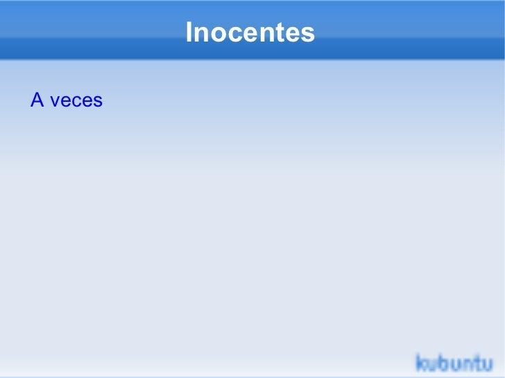 Inocentes A veces