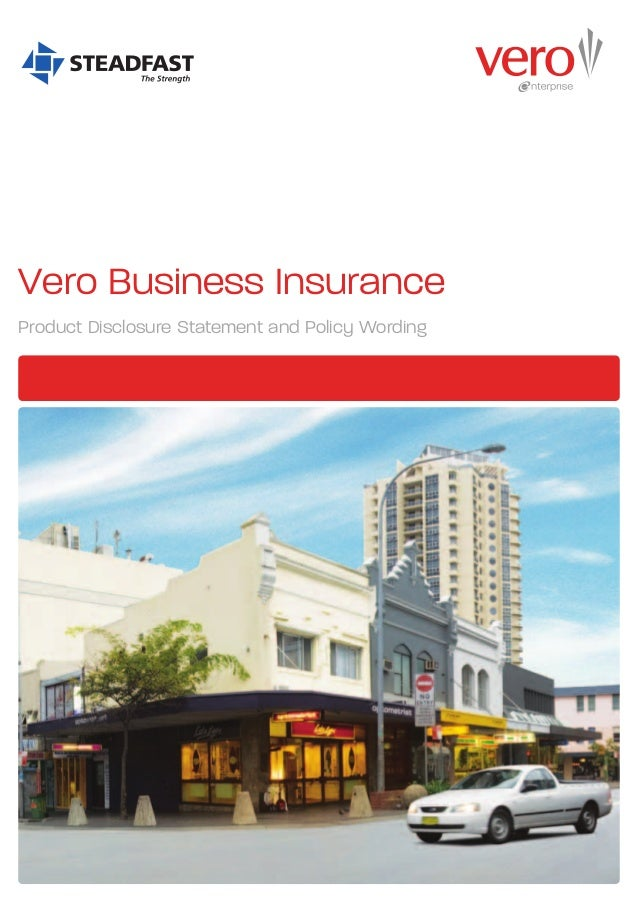 BLACK        Vero Business Insurance        Product Disclosure Statement and Policy Wording