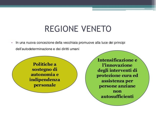 Regione Veneto Politiche Per Gli Anziani