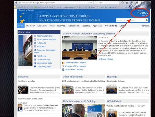 Convenzione e Corte europea dei diritti dell'Uomo :: European Convention and Court of Human Rights