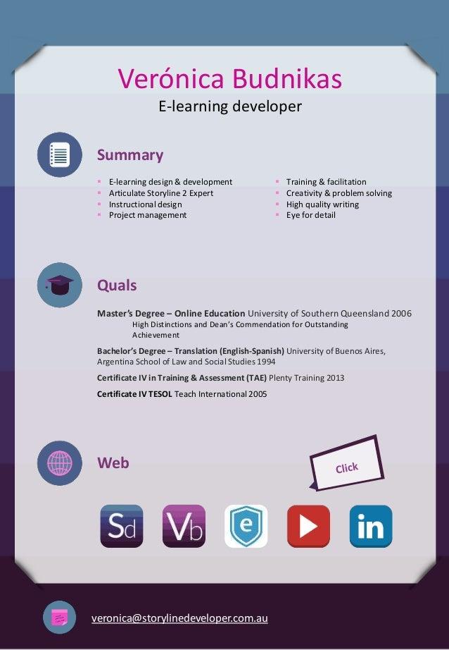 Veronica Budnikas E Learning Developer