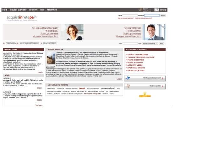 Caratteristiche funzionamento del Mercato Elettronico della P.A. (MePA)