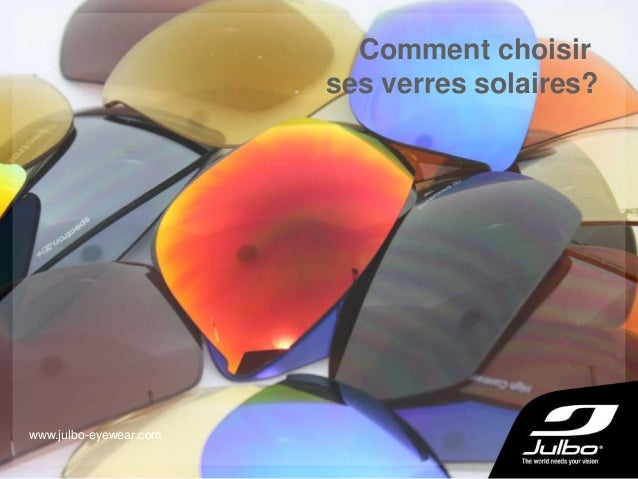 Comment choisir ses verres solaires? www.julbo-eyewear.com