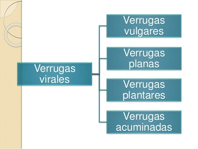 Verrugas virales Verrugas vulgares Verrugas planas Verrugas plantares Verrugas acuminadas