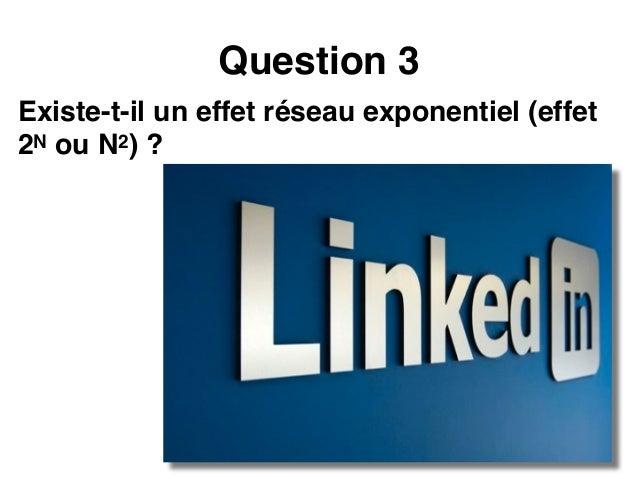 Loi de Reed La valeur d'un réseau est proportionnelle au n o m b r e d e s o u s - groupes différents que l'on peut constr...