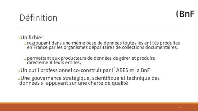 JABES 2017- Vers un fichier national d'entités (FNE) Slide 2