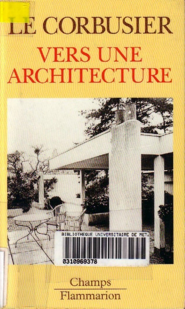 Le Corbusier Vers une architecture