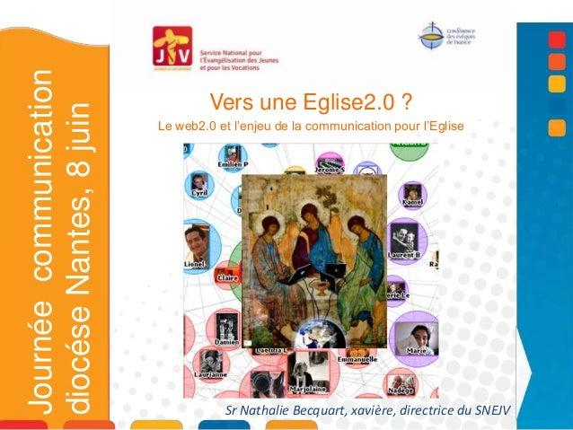 Vers une Eglise2.0 ?Le web2.0 et l'enjeu de la communication pour l'EgliseL'EJournéecommunicationdiocéseNantes,8juinSr Nat...