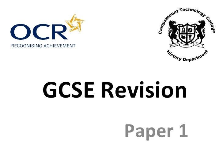 GCSE Revision Paper 1
