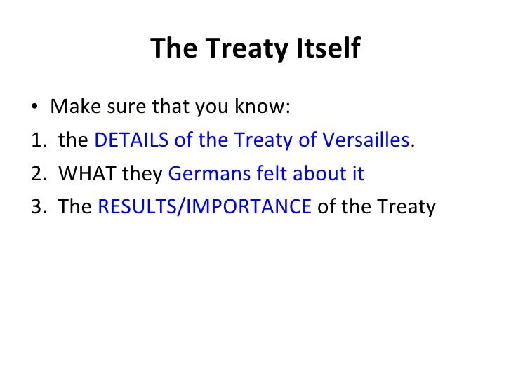 the meaning of the leage of nations and the treaty of versailles League of nations definition, an international organization to promote world peace and cooperation that was created by the treaty of versailles (1919): dissolved april 1946 see more.
