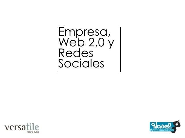 Empresa,Web 2.0 yRedesSociales