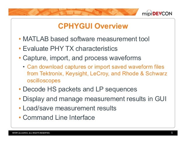 MIPI DevCon 2016: Versatile Software Solution for MIPI C-PHY