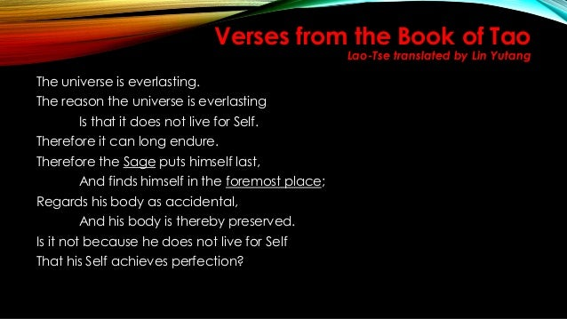 33++ Verses from the book of tao explanation ideas